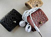 Затискачі, тримачі для навушників візерунок Вишиванка