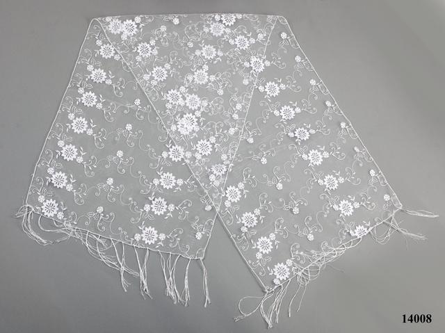 Свадебный шарф белый красотка 2
