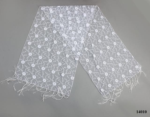 Свадебный шарф белый ромашка 2