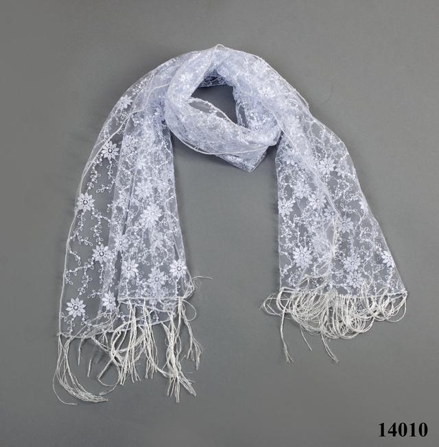 Свадебный шарф белый ромашка 3
