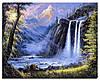 """Набор для вышивания стразами Алмазная вышивка """"Водопад"""" 40 на 50 см"""