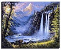 """Набор для вышивания стразами Алмазная вышивка """"Водопад"""" 40 на 50 см, фото 1"""