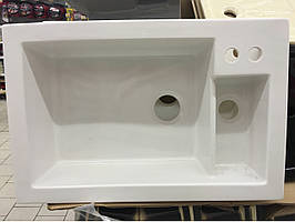 Мийка кухонна керамічна Sarreguemines Lingot Blanc + подрібнювач