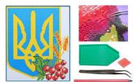 _Мозаика 5D Z1600 алмазная Герб Украины