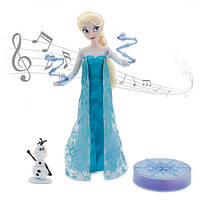 Кукла Эльза поющая Дисней делюкс Elsa Deluxe Singing Doll Set