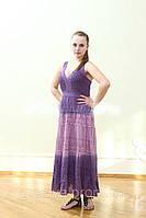 Сарафан женский из хлопка с ажурными вставками