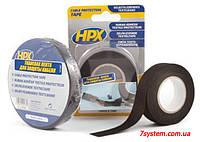 Самоклеющаяся текстильная лента для защиты кабеля HPX (АНТИ-СКРИП) 110°С, 19 мм х 10 м, черный