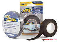 Самоклеющаяся текстильная лента для защиты кабеля HPX (АНТИ-СКРИП) 110°С, 19 мм х 25 м, черный