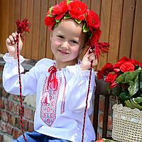 """Вышиванка на льне для девочки """"Украиночка-2"""" на рост 86 см-164 см"""