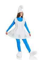 Смурфетта в платье карнавальный женский  костюм / BL - ВЖ249