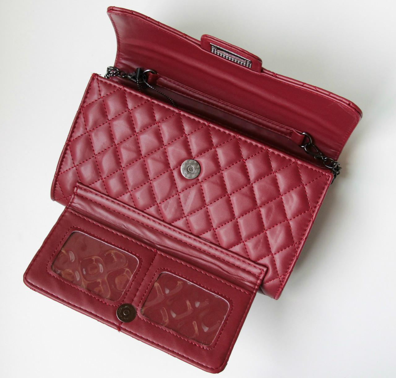 c8eab30d2f76 Женская сумка Flap mini бордовая 1023, сумка через плечо: продажа ...