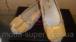 Балетки женские текстиль с деревянной брошью рр 35