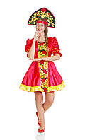Хохлома (вышивка) женский национальный карнавальный костюм
