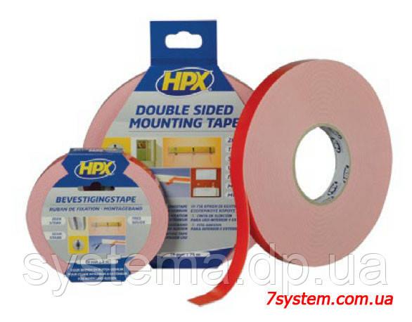 Двухсторонняя монтажная клейкая лента HPX для зеркал, 19 x 0,95 мм, рулон 25 м, белый