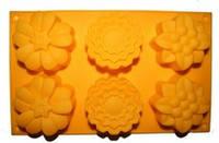 Форма силиконовая для мыла Ассорти цветы 3D на планшете
