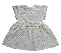 Летнее ажурное платье молочного цвета, рост 74 см