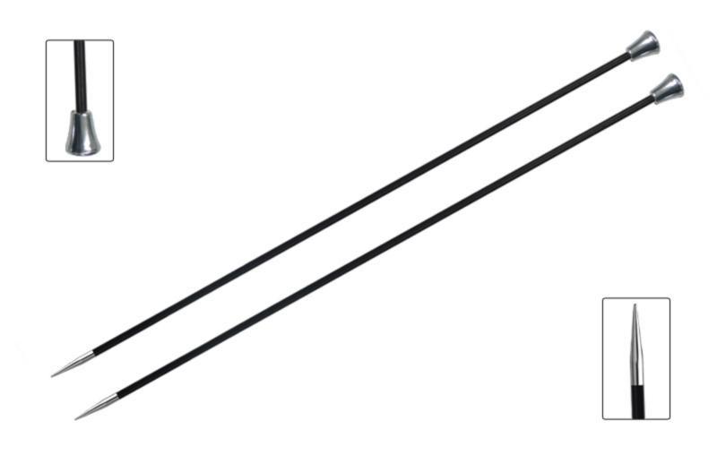 Спицы прямые 25 см Karbonz KnitPro,  4.50 мм