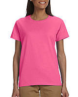 Футболка Gildan® Ultra Cotton® Ladies Tee Safety Pink