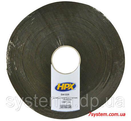 Двухсторонняя монтажная клейкая лента HPX для фиксации, 12 x 3,0 мм, рулон 25 м, черный, фото 2