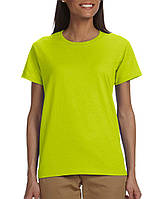 Футболка Gildan® Ultra Cotton® Ladies Tee Safety Green
