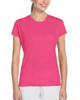 Футболка Gildan® Performance® Ladies Tee Safety Pink