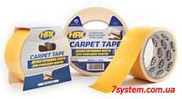 Двухсторонняя монтажная клейкая лента HPX для ковровых покрытий, 50 мм x 0,25 мм, рулон 25 м, белый