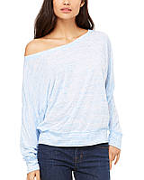 Лонгслив Bella + Canvas Women's Flowy Long Sleeve Off Shoulder Tee Blue Marble