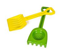 Песочный набор Б 01-110-2 лопатка, грабли Kinder Way