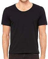Футболка Bella + Canvas Men's Wide Neck Tee Black