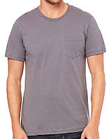 Футболка Bella + Canvas Men's Jersey Short Sleeve Pocket Tee Asphalt
