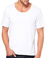 Футболка Bella + Canvas Men's Wide Neck Tee White
