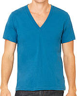 Футболка Bella + Canvas Unisex Jersey Short Sleeve Deep V-Neck Tee Deep Teal