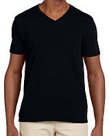 Футболка Gildan Softstyle® V-Neck Tee Black
