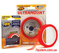 Тонкая двухсторонняя монтажная лента HPX ULTRAMOUNT, 6,0 мм x 0,25 мм, рулон 10 м, прозрачный