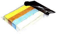 """Мел мягкий пакет """"Люкс-Колор"""" цветной квадратный (4 цв.) (80x16x16 мм.)"""