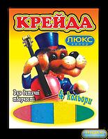 """Мел """"Люкс-Колор"""" цветной квадратный (4 цв.) (70x15x10 мм.)"""