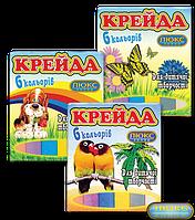 """Мел """"Люкс-Колор"""" цветной квадратный (6 цв.) (70x15x10 мм.)"""