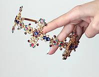 Корона обруч D&G крест в стразах , диадема