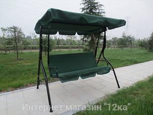Садовая качеля Majka, зеленая, с козырьком, фото 2