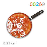Блинная сковорода Crepe, оранжевая, покрытие Whitford QuanTanium  Ø 23 см 88269