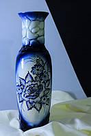 Керамическая ваза Николь, гжель