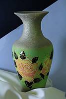 Керамическая ваза Титаник, бисквит зеленый