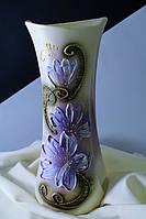 Керамическая ваза Румба, акрил, лепка