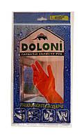 Перчатки хозяйственные латексные Doloni универсальные (Арт. 4546) размер L - 1 пара.