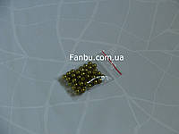 Пластиковые бусины d 7-8мм ,цвет хаки(1 упаковка 50 бусин)