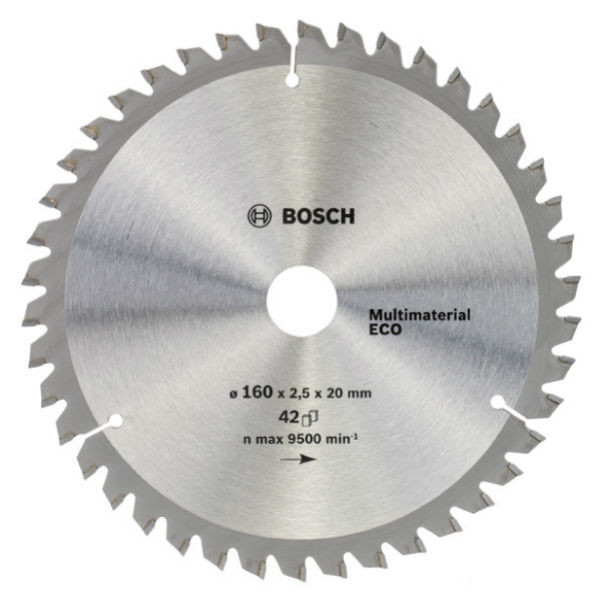 Циркулярный диск Bosch 160x20/16 42 Multi Material ECO