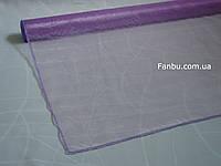 Органза флористическая на метраж,цвет сиреневый (ширина 72см)