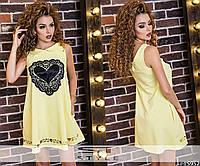 Женское платье короткое с карманами
