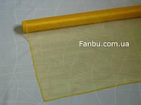 Органза флористическая на метраж,цвет желтый (ширина 79см)