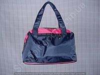 Cумка 114099 синяя с розовым женская спортивная из полиэстера размер 40 см х 26 см х 17 см